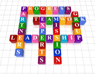 Progress partners leadership teamwork experts mission group